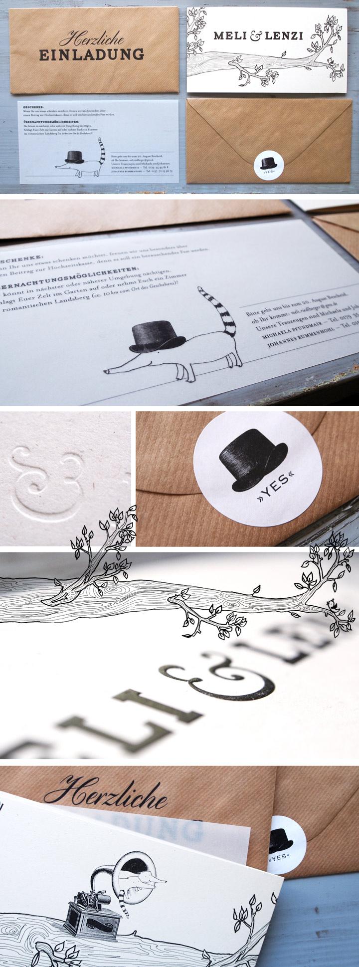 Jutta Geisenhofer | Grafik Design Augsburg Individuelle Hochzeits Einladung    Jutta Geisenhofer | Grafik Design Augsburg