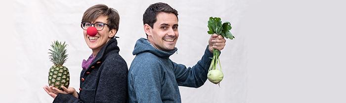 Fotoshooting für die rollende Gemüsekiste